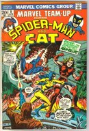 Marvel Team-up #8 featuring Spider-man and the Cat comic book fine/very fine 7.00