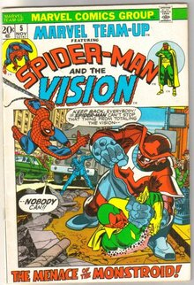 Marvel Team-up #5 featuring Spider-man and the Vision comic book fine/very fine 7.00