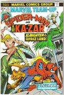 Marvel Team-up #19 featuring Spider-man and Kazar comic book very fine 8.0