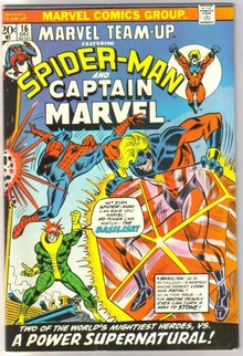 Marvel Team-up #16 featuring Spider-man and Captain Marvel comic book very fine 8.0