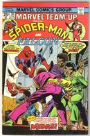 Marvel Team-up #30 featuring Spider-man and the Falcon comic book near mint 9.4