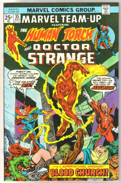 Marvel Team-up #35 featuring Human Torch and Doctor Strange comic book near mint 9.4