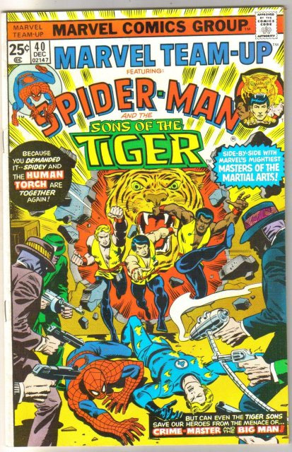 Marvel Team-up #40 featuring Sons of the Tiger comic book near mint 9.4