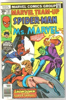 Marvel Team-up #62 featuring Spider-man and Ms. Marvel comic book near mint 9.4