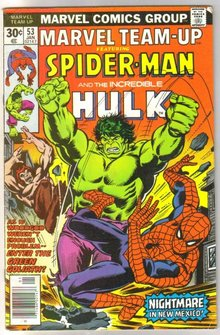 Marvel Team-up #53 featuring Spider-man and Hulk and X-men comic book fine 6.0