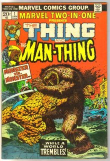 Marvel Two-In-One #1 featuring The Thing and The Man-thing comic book fine/very fine 7.0