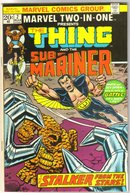 Marvel Two-In-One #2 featuring The Thing and The Sub-Mariner comic book very fine 8.0