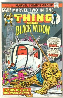 Marvel Two-In-One #10 featuring The Thing and The Black widow comic book very fine 8.0