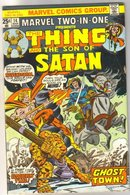Marvel Two-In-One #14 featuring The Thing and The Son of Satan comic book very fine 8.0