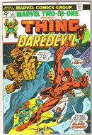 Marvel Two-In-One #3 featuring The Thing and Daredevil comic book very fine/near mint 9.0