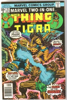 Marvel Two-In-One #19 featuring The Thing and Tigra comic book very fine/near mint 9.0