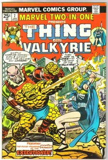 Marvel Two-In-One #7 featuring The Thing and Valkyrie comic book near mint 9.4