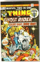 Marvel Two-In-One #8 featuring The Thing and Ghost Rider comic book near mint 9.4