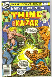 Marvel Two-In-One #16 featuring The Thing and Kazar comic book near mint 9.4