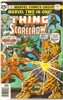 Marvel Two-In-One #18 featuring The Thing and The Scarecrow comic book near mint 9.4