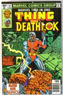 Marvel Two-In-One #54 featuring The Thing and Deathlock comic book near mint 9.4