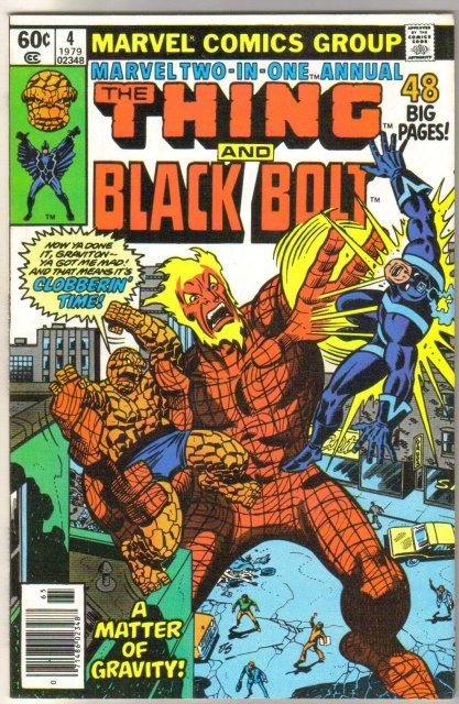 Marvel Two-In-One annual #4 featuring The Thing and Black Bolt comic book mint 9.8