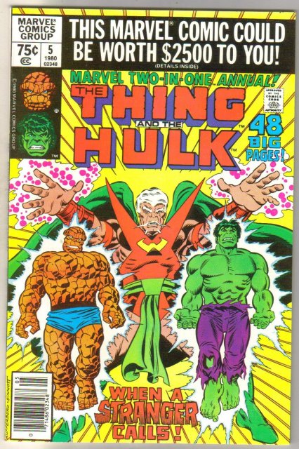 Marvel Two-In-One annual #5 featuring The Thing and athe Hulk comic book mint 9.8