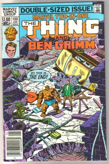 Marvel Two-In-One #100 featuring The Thing and Ben Grimm comic book mint 9.8
