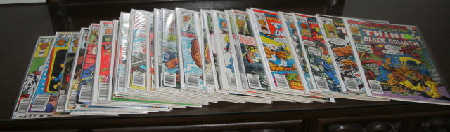 Marvel Two-In-One comic book collection of 54 different issues