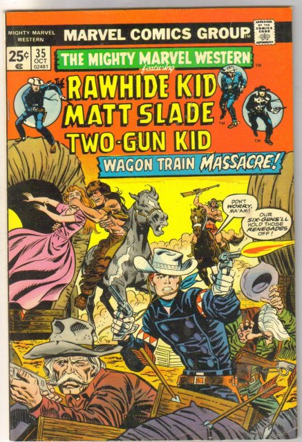 Mighty Marvel Western #35 comic book fine 6.0