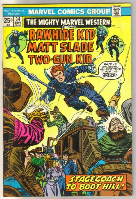 Mighty Marvel Western #34 comic book very good/fine 5.0