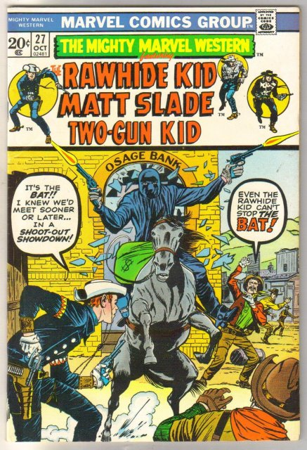 Mighty Marvel Western #27 comic book very fine/near mint 9.0