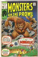 Monsters on the Prowl #9 comic book fine 6.0