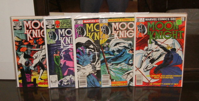 Moon Knight original series collection of 5 comic books 9, 10, 12, 14, and 18.