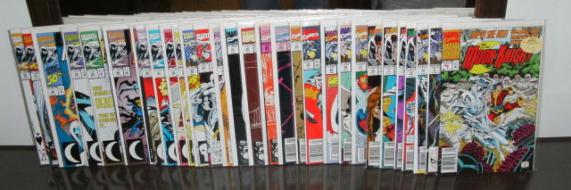 Marc Spector: Moon Knight collection of 31 comic books issues 1 thru 52 averaging mint 9.8 condition