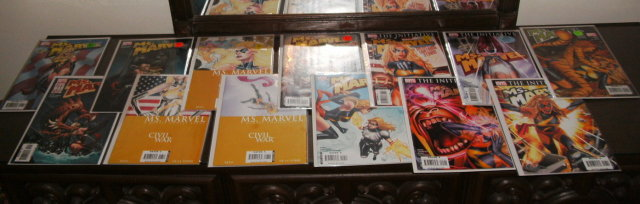 Ms. Marvel modern comic book collection of 13 different issues near mint or better