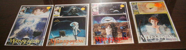Moonshadow comic book collection of 4 different comic book issues near mint or better