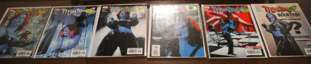 Mystique 6 issue comic book collection all mint 9.8