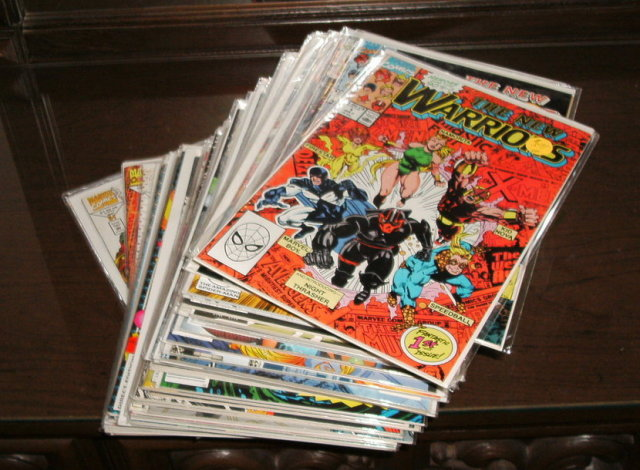Assortment of 37 first series New Warriors comic books issues 1 thru 51