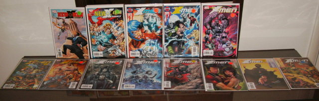 Assortment of 13 New X-Men comic books