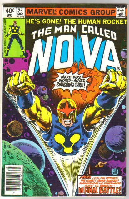 The Man Called Nova #25 comic book very fine/near mint 9.0