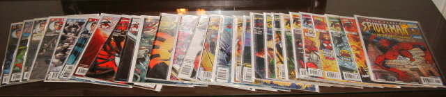 Peter Parker Spider-man comic book collection of 27