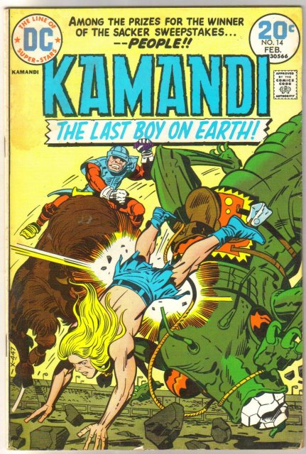 Kamandi The Last Boy on Earth #14 comic book fine 6.0