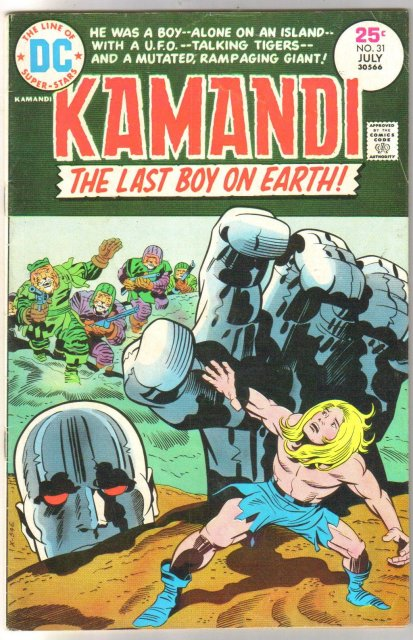 Kamandi The Last Boy on Earth #31 comic book fine 6.0