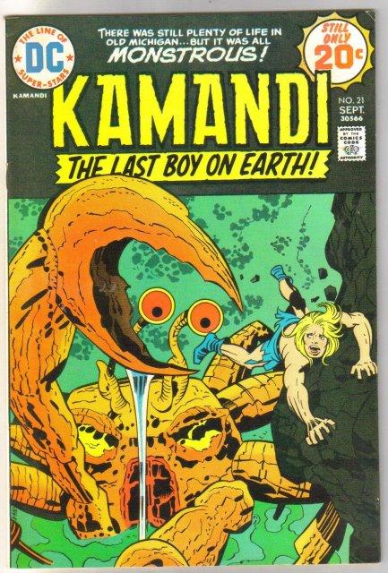 Kamandi the Last Boy on Earth #21 fine/very fine 7.0
