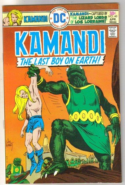 Kamandi the Last Boy on Earth #40 very fine 8.0