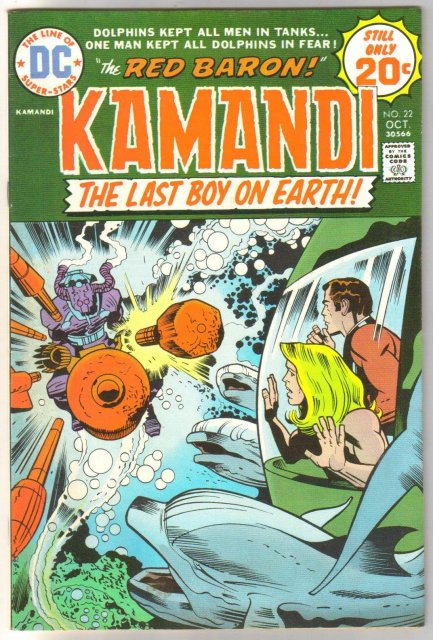 Kamandi The Last Boy on Earth! #22 comic book very fine/near mint 9.0
