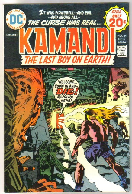 Kamandi The Last Boy on Earth! #24 comic book very fine/near mint 9.0