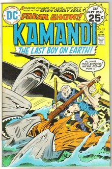 Kamandi The Last Boy on Earth! #25 comic book very fine/near mint 9.0