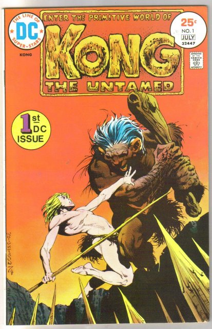Kong the Untamed #1 comic book very fine/near mint 9.0