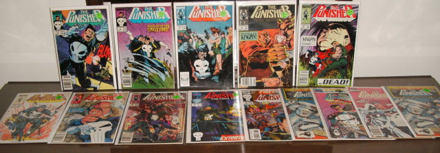 14 issue Punisher comic book collection