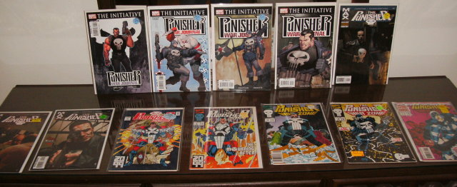 Punisher  collection of 12 comic books