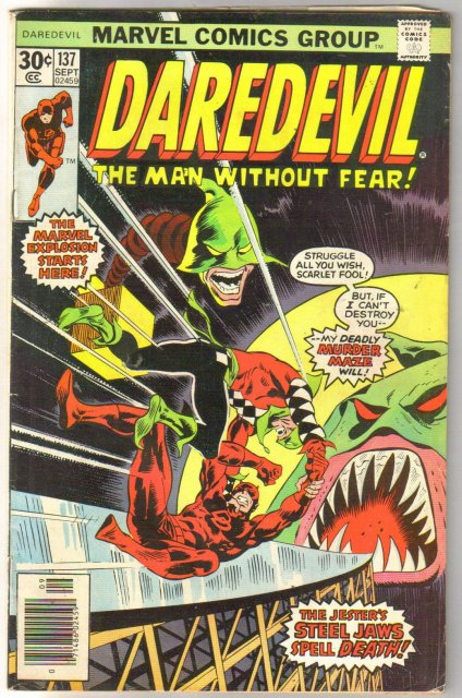 Daredevil the Man Without Fear #137 comic book very good/fine 5.0