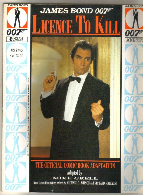 James Bond 007 Licence To Kill graphic novel like new