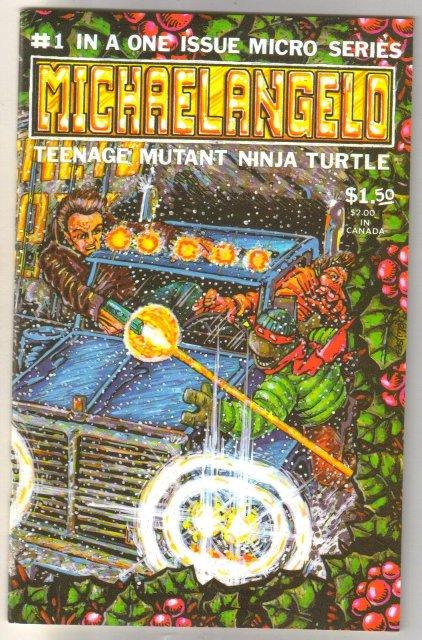 Michaelangelo Teenage Mutant Ninja Turtle #1 comic book near mint 9.4